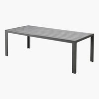 Table MIAMI 92x205 gris