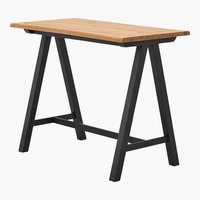 Table de bar SANDBY 71x128 chêne/noir