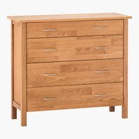 4 drawer chest KAGERUP wide oak