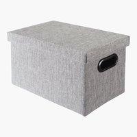Caja ALINA A20xL30xA18cm gris