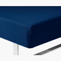 Fitted sheet DBL blue KRONBORG