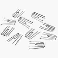 Metallikoukut 4-sorminen liukuun 10kpl