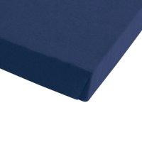 Drap-housse jersey 140x200x30cm bleu