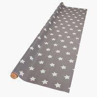 Wachstuch STARS B140cm grau