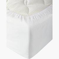 Lenzuolo con angoli 90x190x25cm bianco