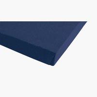 Lenzuolo in Jersey 140/160x200x30cm blu