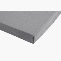 Jersey-Spannbettlaken 180x200x30 zement
