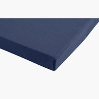 Jersey-Spannbettlaken 150x200x28 blau