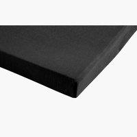 Jersey-Spannbettlaken 150x200x30 schwarz