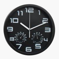 Horloge murale SEJER Ø25cm noir