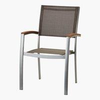 Chaise empilable SANTIAGO gris