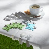 Tablecloth clips CLIP 4 pieces/pk white