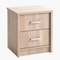 Noční stolek GENTOFTE 2 zásuvky dub