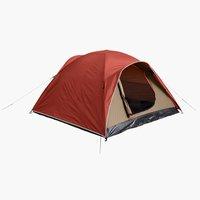 Tent AURSKOG sleeps 3 red/beige