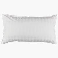 Taie d'oreiller NELL Satin 40x80cm blanc