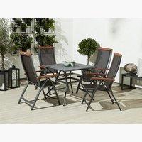 Miza LARVIK D88 + 4 stoli MADERNE