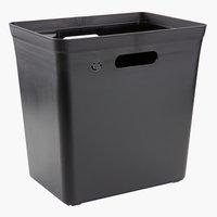 Mülleimer VIRGIL B34xL35xH33cm schwarz