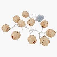 String lights SIGURD L230 w/10LED timer
