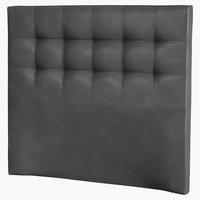 Hoofdbord 140x125 H50 gestikt zwart-01