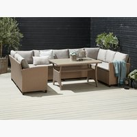 Loungeset ULLEHUSE 9 pers. opberg natur