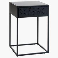 Noční stolek VIRUM 1 zásuvka černá