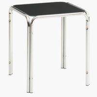 Tavolino SHINE 40x40 grigio/cromato
