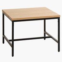 Coffee table TEBSTRUP 60x60 oak/black