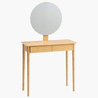 Sminkbord SAKSILD m/spegel bambu