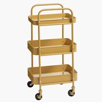 Stolić s kotačima ROLL IT žuta