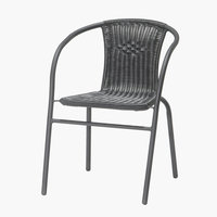 Stacking chair GRENAA black
