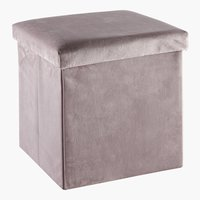 Pouf KALUM 38x38 velours rose