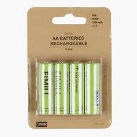 Batterij EIMILL oplaadbaar AA 4st/pk