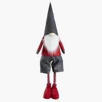 Elfo di Natale HALM H120cm rosso/grigio