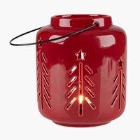 Lanterne HARMOND Ø11xH13cm rouge