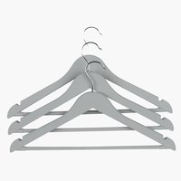 Kleiderbügel ABSALON 3Stk/Pck grau