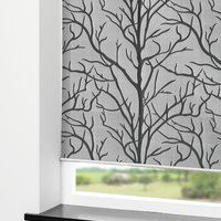 Rullgardin BARKEN 140x170 grå/svart