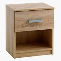 Bedside table KABDRUP 1 drw oak