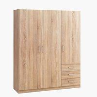 Wardrobe HAGENDRUP 144x176 combi oak