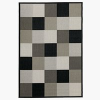 Rug RIPS 133x195cm black/beige