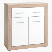 1-drawer 2 door chest FAVRBO oak/white