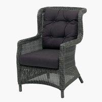 Poltrona lounge FALKENBERG grigio