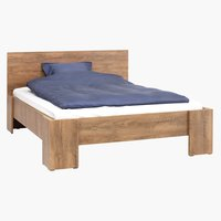 Bed frame VEDDE Double oak