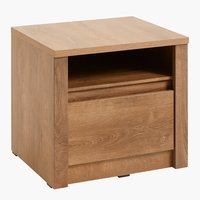 Bedside table VEDDE 1 drw oak