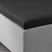 Hoeslaken topper 140x200x6-10 zwart