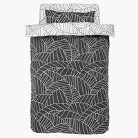Спално бельо+чаршаф PAULA единично/сиво