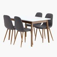 Miza GAMMELGAB d120 + 4 stoli JONSTRUP