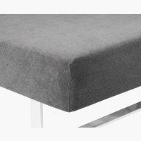 Hoeslaken badstof 180x200/210 grijs KR