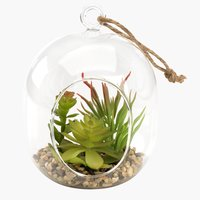 Artificial plant VIGO Ø11xH15cm glass