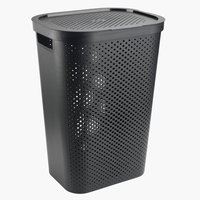 Pyykkikori INFINITY muovi musta