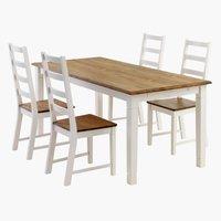 Miza RYSLINGE + 4 stoli RYSLINGE